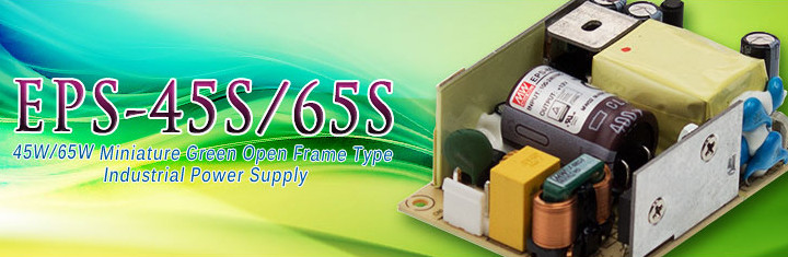 EPS-45S/65S Series (45W/65W Miniature Green Open Frame Type Industrial Power Supply)