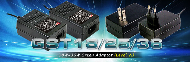 GST18/25/36 Series (18W~36W Green Adaptor(Level VI)